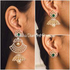 Saved by radhareddy garisa Jewelry Design Earrings, Gold Earrings Designs, Necklace Designs, Gold Jewelry, Women Jewelry, Jewelery, Jewellery Designs, Gold Designs, Hoop Earrings