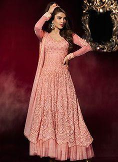 Priyanka Chopra Light Peach Anarkali Suit