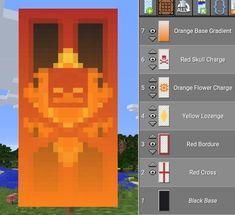 Minecraft Element of Fire Banner Minecraft Cheats, Minecraft Plans, Minecraft Room, Minecraft Tutorial, Minecraft Blueprints, Minecraft Furniture, Minecraft Banner Patterns, Cool Minecraft Banners, Amazing Minecraft