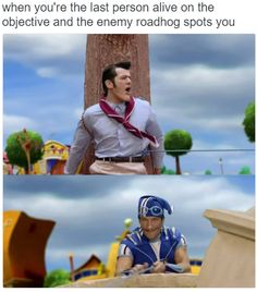 when you're the last person alive on the objective and the enemy roadhog spots you