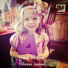 Our little princess turned FOUR this weekend! FOUR! She requested MONTHS ago to have a  PRINCESS themed party. All th...