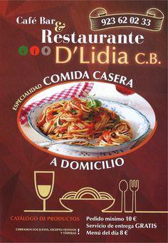 Plantilla para descargar carta menu restaurante carta Menu comida casera