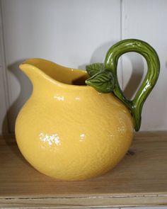Lovely Vintage Orange Jug or Pitcher by Restored2bloved on Etsy, £25.00