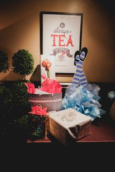 An Alice in Wonderland themed party