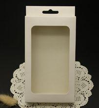 En blanco cajas de papel blanco con claro PVC ventana(China (Mainland))