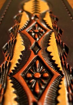 Hand Tooled Leather Guitar Strap Daybreak Pattern by LeatherPro, $119.00