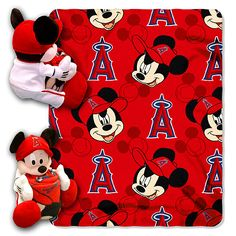 Los Angeles Angels of Anaheim Mickey Hugger Bear Throw