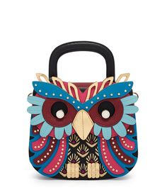 Your wisdom is self-evident when you carry the Owl Accordion Party Handbag by Henri Bendel. Fun and flirty, this designer handbag is for the fashionista with a bit of quirk in her style.