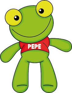 Sapo pepe Frog Template, Frog Crafts, Elementary Spanish, Cute Frogs, Sanrio Characters, Ideas Para Fiestas, Animal Party, Winnie The Pooh, Pikachu
