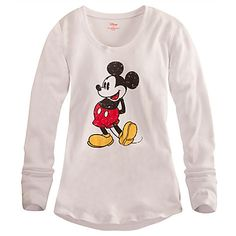 Mickey Mouse Thermal Tee for Women | Tees, Tops & Shirts | Disney Store.   I'll be optimistic and get a medium. LOL.