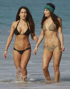 bella twins | BELLA TWINS, BRIANNA and NICOLE Garcia-Colace in Bikini on the Beach ...