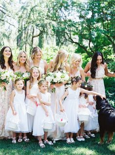Photography : Jessica Burke | Ceremony Venue : St Helena Catholic Church | Wedding Dress : Tulle New York Read More on SMP: http://www.stylemepretty.com/2016/01/13/spring-napa-valley-wedding-with-floral-print-bridesmaids/