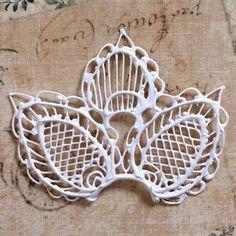Filigree piece with latticework.
