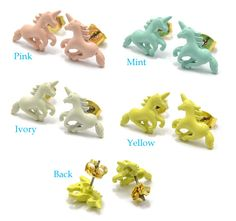 PARIS KIDS | Rakuten Global Market: Fun pastel color Unicorn earrings | Cute cute cute Womens Hara-Juku series color animal pattern animals colorful earrings summer birthday present pariskids 02P30May15