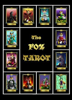 The Fox Tarot Card Deck 78 Card Deck with Box and by cageddreams