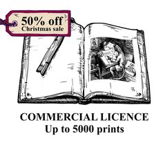 COMERCIAL LICENCE up to 5000 by CatMadePattern on Etsy