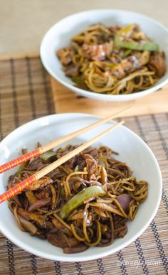 Delicious Ginger Chicken with Mushrooms and Noodles - ready from wok to bowl in less than 30 mins. Slimming World and Weight Watchers friendly Slimming World Dinners, Slimming Eats, Slimming World Recipes, Healthy Cooking, Healthy Eating, Cooking Recipes, Healthy Recipes, Other Recipes, Great Recipes