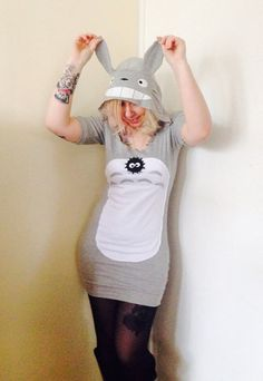 Hooded Totoro Dress Made to Order studio Ghibli by CherryPiePunk, £35.00 WANT SO BADLY!!