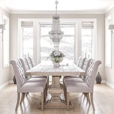 white dining room table brilliant white dining room furniture best 25 table for GUDKWAT - Home Decor Ideas - Best Pins Oak Dining Table, Elegant Dining Room, Luxury Dining Room, Dining Room Design, Dining Room Furniture, Dining Room Inspiration, White Dining Room, Trending Decor, Home Decor