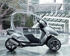 Peugeot HYmotion 3 Three Wheels Scooter Concept | Tuvie
