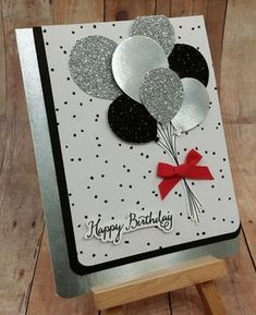Stampin' Up! Balloon Celebration, Happy Birthday Card by phoebe