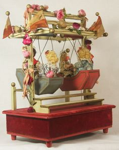 Antique German Mechanical Musical Swing with Bisque Dolls C1900   eBay
