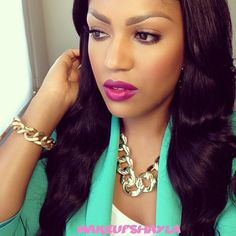 .@makeupshayla  Megenta Lipstick - Rebel MAC  makeup ideas
