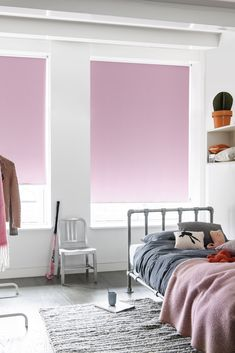 #barnerom #rullegardin #pink #childernsroom #rosa #rollerblind Ikea, Stores, Floor Chair, Pretty In Pink, Cosy, Blinds, Bedroom, Inspiration, Furniture