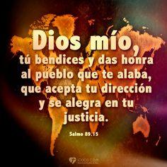Imagen: Dios bendice al pueblo que lo alaba - Logos C.D.A - Expresando Palabra de Vida