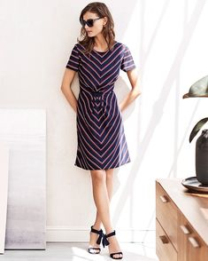 Break up with your dry-cleaner. This perfect dress is machine-washable. #itsbanana