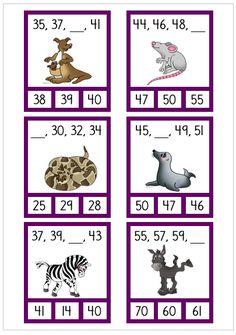 2-hopp Place Value Worksheets, Math Worksheets, Math Games, Math Activities, Math Term, Busy Boxes, Math School, Kindergarten Centers, Second Grade Math