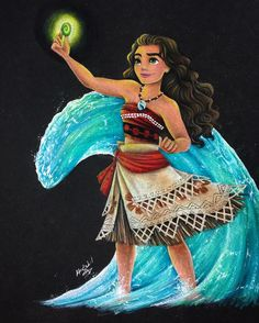 I've been coloring Ariel's dress nonstop that I forgot to post Moana Also I'm not hating the way the water ending up looking. I had to pull up SO many reference pictures of waves, splashes etc. because I was honestly just staring at the paper. Walt Disney, Disney Magic, Moana Disney, Disney Dream, Cute Disney, Disney Channel, Disney And Dreamworks, Disney Pixar, Disney Movies