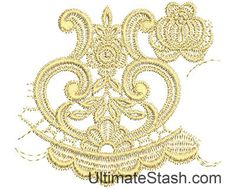 Lace from the Vault 3 Design 4 - Machine Embroidery Design