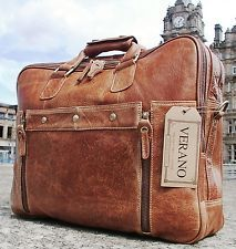 New designer leather duffle briefcase flight gym bag holdall mens tan large xl
