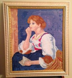 Lady With A Letter Needlepoint
