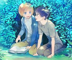 Armin, Eren, Attack on titan, AOT, SNK