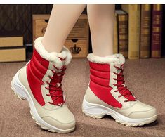 Women Boots Waterproof Winter Ankle Snow Boots Women Platform Winter Shoes With Thick Fur Botas Mujer Bota Ankle Snow Boots, Snow Boots Women, Winter Snow Boots, Casual Sneakers, Casual Shoes, Baskets, Winter Fashion Boots, Fashion Fall, Latest Fashion