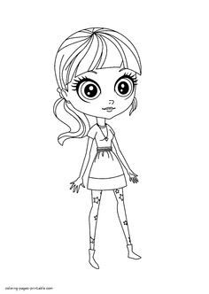 Littlest pet shop coloring page. All characters