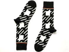 Striped MEN Socks black Happy socks Funny socks Gift for him birthday gift gift ideas father # Silly Socks, Crazy Socks, Funny Socks, Cute Socks, Happy Socks, Mens Colorful Dress Socks, Mens Striped Socks, Pineapple Socks, Womens Wool Socks