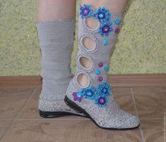 Обувь ручной работы. Заказать Сапожки вязаные