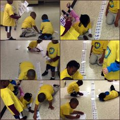 Students learn positive & negative numbers greater than, less than and equal to and create a number line! What Fun!