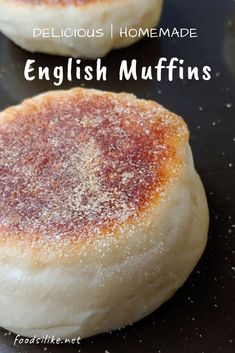 55 minutes · Vegetarian · Serves 6 · Delicious homemade English muffins are so much better than store-bought! Soft yet chewy, this easy recipe takes only 7 ingredients! Perfect for brunch or an afternoon snack. English Muffin Recipes, Homemade English Muffins, English Muffin Recipe No Yeast, Sourdough English Muffins, English Muffin Bread, Homemade Muffins, Brunch, Crumpets, Afternoon Snacks