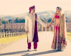 Indian wedding couples portraits