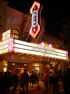 The historic Buskirk-Chumley Theater (aka the site of many wonderful things)...we met + got engaged here!
