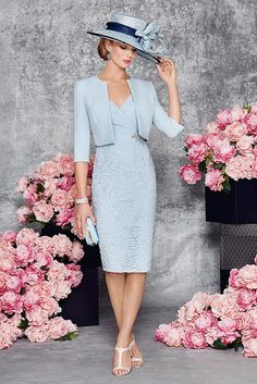 New Ronald Joyce 991116 from their new Spring Summer 2016 collection. This is a stylish Mother of the Bride outfit complete with a matching jacket.