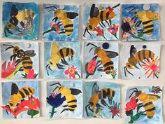 2nd grade - art inspired by Eric Carle
