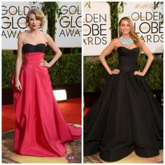 Taylor swift y Sofía Vergara se encuentran dentro del ranking de las mejores vestidas en los Globos de Oro de este año.