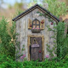 "Fairy Garden Indoor/Outdoor Decor ""Ladybug"" w/Hinged Door Flower Gardens/Balconies - Unique Gift Shop - Collectibles, Fairy Gardens, Dollhouse Miniatures & More"