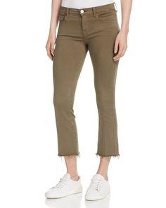 J Brand Selena Crop Bootcut Jeans in Trooper