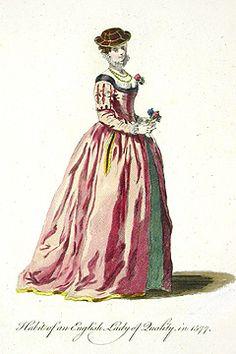 English Lady. Jefferys Old English Dress 1757